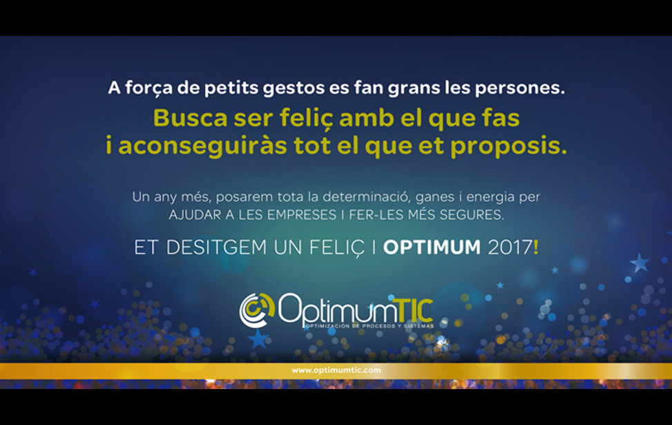 FELIÇ I OPTIMUM 2017!